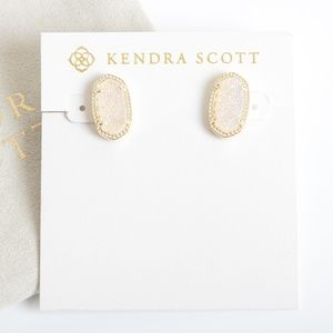 Kendra Scott Gold Ellie Stud Earrings Drusy